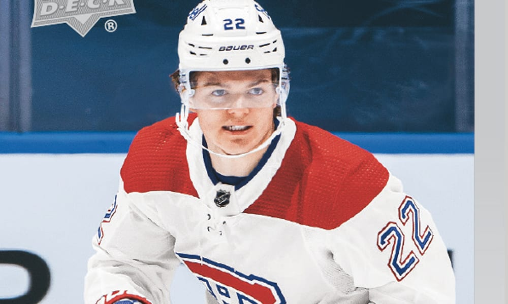 Cole Caufield Upper Deck Montreal Canadiens card